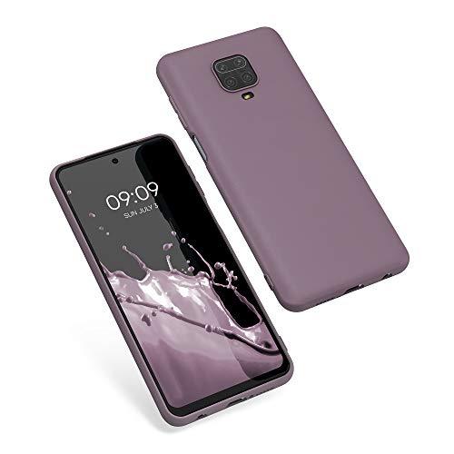 kwmobile Funda Compatible con Xiaomi Redmi Note 9S / 9 Pro / 9 Pro MAX - Carcasa de TPU Silicona - Protector Trasero en violteta Ciruela