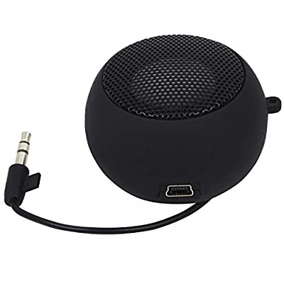 TRIXES Mini Portable Rechargeable Travel Aux Speaker Wired 3.5mm Headphone Jack by Generic