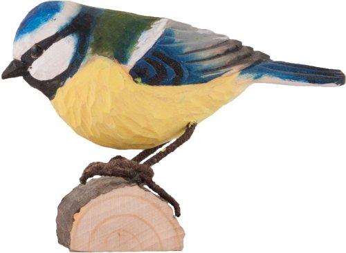Wildlife Garden Dekovogel Holzvogel - Blaumeise - Handgeschnitzt