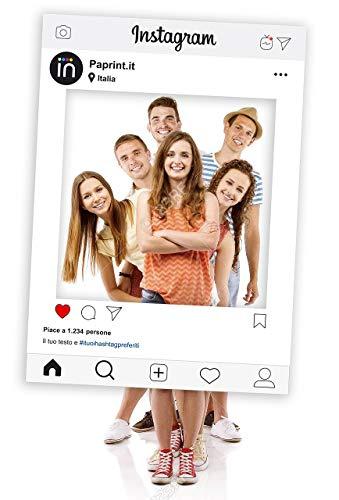 Cornice Photo Booth Instagram Selfie Frame Personalizzata per Feste, Matrimoni, Compleanni, Eventi, 50x70 cm con Supporto in PVC