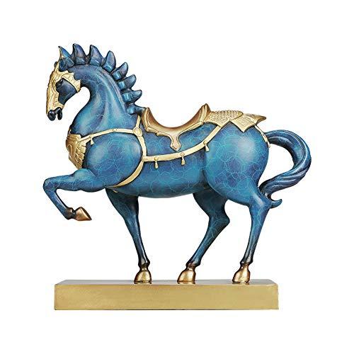 Pura escultura de bronce War Horse Decoración, poderoso y dominante Significado seguir adelante, la decoración del hogar regalo