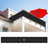 HMGDFUE Frangivista Frangivento per Balcone Terrazzo, Copri Ringhiera Balcone Recinzione Copertura per Balcone Protezione della Privacy Schermo 90 * 500cm (2.95ft x 16.40ft)