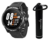 Coros APEX Pro Premium Multisport GPS Watch and Wearable4U Compact Power Bank Bundle (Black)