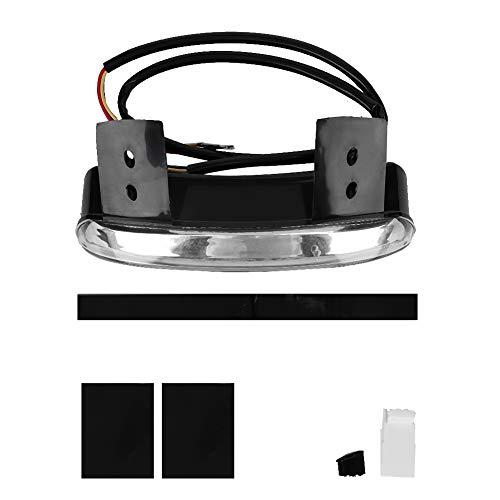 Duokon Motorcycle LED-achterlicht Remlicht, PP-lijm LED-lamp Motorfiets achterlicht Accessoires Transparant gemodificeerde lamp(Transparant)