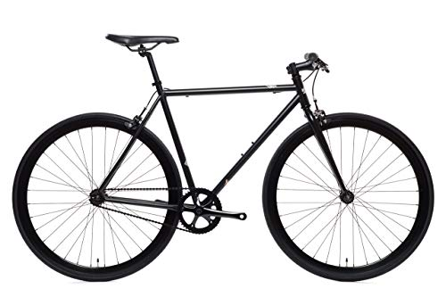 Wulf Matte Black Core-Line State Bicycle | Fixie Single Sped Fixed Gear Bike - Wulf (Matte Black) Medium (54 cm)