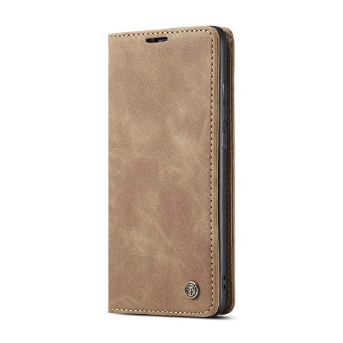 JMstore hülle kompatibel mit Huawei P Smart 2019/Honor 10 Lite, Leder Flip Schutzhülle Brieftasche Handyhülle mit Kreditkarten Standfunktion (Braun)