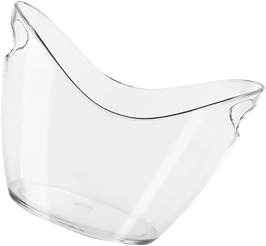 IMIKEYA Oval Ice Bucket Ranking TOP1 10.62'' Clear 7.67'' Acrylic X OFFicial Wine