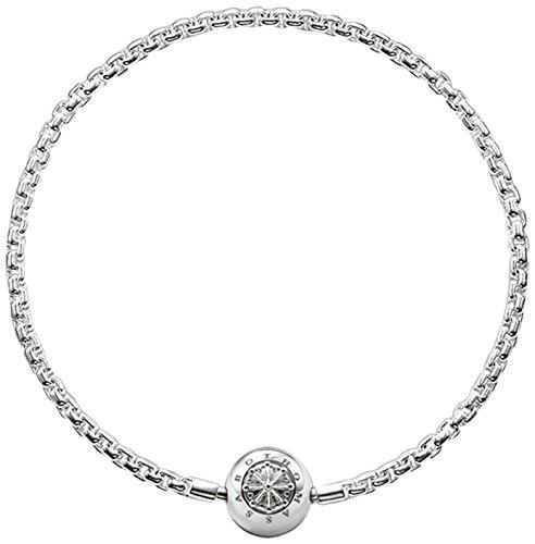 Thomas Sabo Damen Herren-Armband Karma Beads 925 Sterling SilberKA0001-001-12- , Länge -17 - Silber