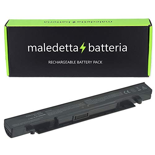 Batteria MaledettaBatteria per ASUS A41-X550A 14.4V - 14.8V 2200mah compatibile con A450 A550 F450 F550 F550C F550L F552 F552C F552CL K550 K550C X450 X552 [4 celle]