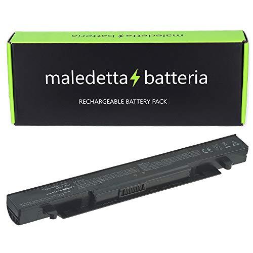 Batteria MaledettaBatteria per ASUS A41-X550A 14.4V - 14.8V 2600mah compatibile con A450 A550 F450 F550 F550C F550L F552 F552C F552CL K550 K550C X450