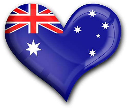 metALUm Herz Acrylmagnet mit starkem Neodym - Magnet Flagge Australien #1311008