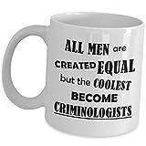 Taza divertida con diseño de criminólogo, divertida y linda broma para hombres, marido, hijo, papá, el más fresco convertirse en criminología, estudiante criminalista, idea de apreciación criminalista