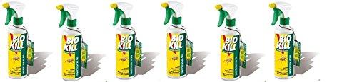 Bio Kill - Insecticida en spray, 6paquetes de 500ml. Eficaz contra todos los insectos