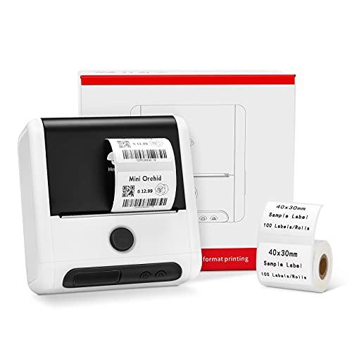Memoking M200 Etikettendrucker - M110 Aktualisierte Version Bluetooth Thermo Labeldrucker für Handy, für Zuhause, Geschäft, Produkte, Barcodes, Logo, 20-80mm Druckgröße, kompatibel mit Android und iOS
