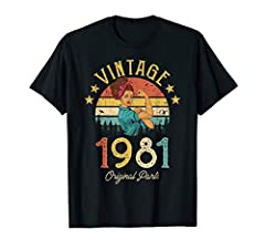 Made in 1981 - 39 years of Being Awesome. Make a cool gift for your dad, mom, grandparent, or friends who are turning 39. Celebrate your special 39th birthday and make party more funny. Click my store to see more 1981 shirt with vintage retro style. ...