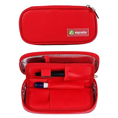 VWCDO Cooler bag Draagbare insuline koeltas Diabetische insuline Travel Case Late-model PU Stof Aluminium Foil ijstas, en vier ijs packs