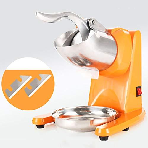 300W Électrique Ice Shaver Machine Maker Snow Cone, Broyeur à Glace à Double Lame de Rasage 95kg / H pour Les Restaurants Commerciaux à Domicile, Les Bars