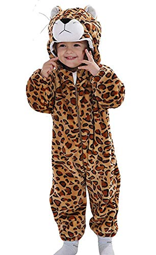 Doladola Unisex Baby Hoodies Onesie Cartoon Animal Romper Pyjama (Leopardo, 100(Altura:80-90cm/1.5-2 años))