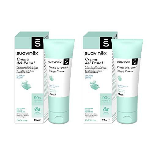 Suavinex Pack 2x Crema Pañal Para Bebés, Protege de Irritaciones y Rojeces, Apta Para Pieles Sensibles, 90% Ingredientes de Origen Natural, 2x75ml, 2 productos