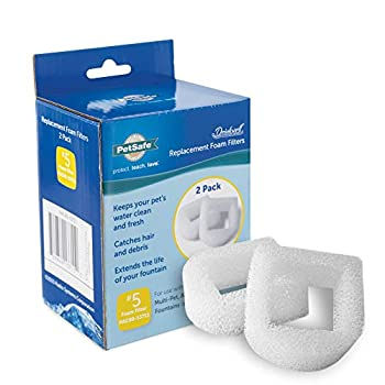 PetSafe Drinkwell Replacement Foam Filters Compatible with PetSafe Ceramic and Stainless Steel Pet Fountains for Water Dispensers 2 Pack - PAC00-13711