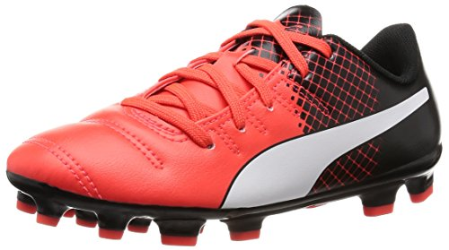 PUMA Evopower 4.3 Tricks AG Jr, Botas de fútbol Unisex Adulto, Red Blast White Black 03, 36 EU