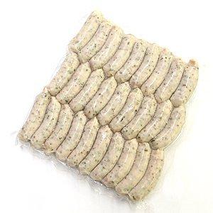 冷凍 天然羊腸本格ポークソーセージ バジル 500g