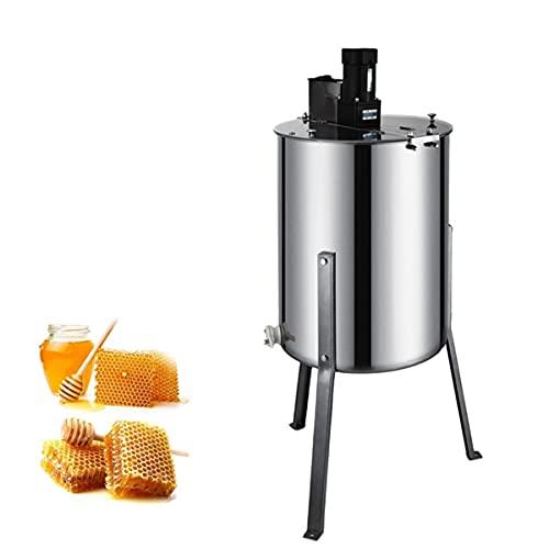 Mooke Elektrische Honigschleuder Aus Edelstahl, 4-Rahmen-Waben-Spinner-Separator Mit Abnehmbaren Stützbeinen Und Transparentem Deckel Bienenhaltungsausrüstung