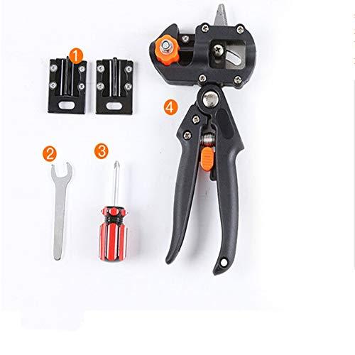 Cvthfyky Outils de pépinières professionnels pour la greffe d'outils 2 lames très tranchantes, un tournevis et une clé plate, garnis, résistants et faciles à utiliser - emballés dans un sac noir.