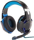 Mod-It Headset PS4: Beleuchtetes Gaming-USB-Headset mit 7.1-Sound und Kabelfernbedienung (Gamer Headset)