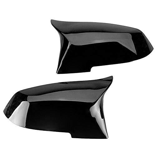 MTGJFDDFO 1pair retrovisor Espejo Cubierta Lateral ala Vista Trasera Espejo Cubiertas de Caja Negra Brillante para BMW F20 F21 F22 F32 F32 F36 x1 F87 M3