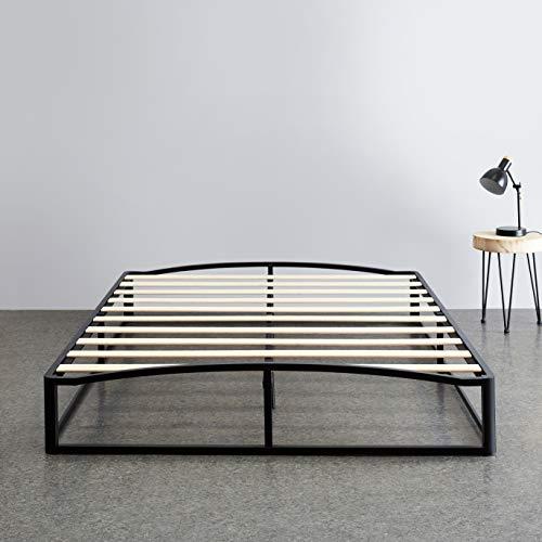 "Amazon Basics 10"" Modern Metal Platform Bed with Wood Slat"