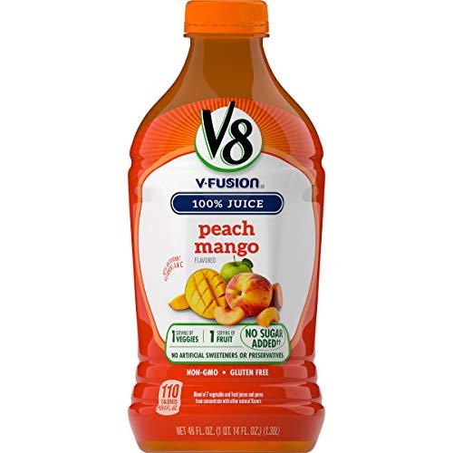 V8 Peach Mango, 46 oz. Bottle.