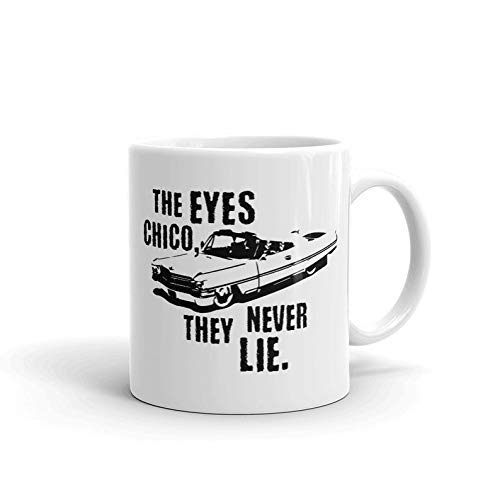 DKISEE The Eyes Chico They Never Lie Scarface Movie Crime Drama Film Tony – Montana Manny – Ribera Gifts Funny Taza de café de 325 ml