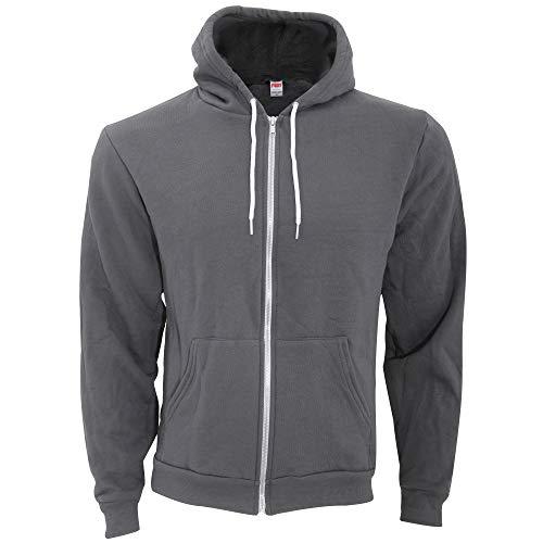 American Apparel Womens Flex Fleece Long Sleeve Zip Hoodie Hooded Sweatshirt Asphalt XX Large