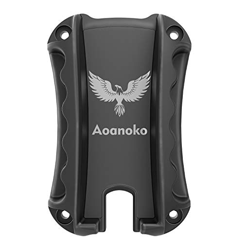 Aoanoko Gun Magnet Mount & Holster for Vehicle and Home - Magnetic Handgun Mount, Quick Load & Draw for Self Defense, Concealed Holder Gun Accessories for Truck, Handgun, Pistol,Car,Safe,Wall