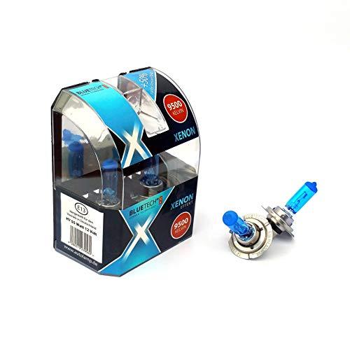 BLUETECH 2X Plus H7 55W 9500K Xenon Effekt mit StVZO Zulassung Uns SUPER Xenon Effekt