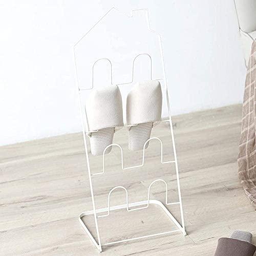 ZAIHW Zapatero de Hierro Dormitorio Creativo nórdico Estante de Zapatos Multicapa Simple Estante de Zapatos Plegable económico para el hogar 26x22x64cm Taburete para Cambiar Zapatos