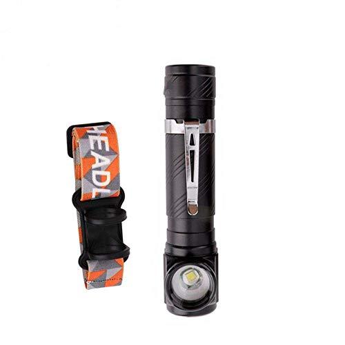 Linterna frontal XML-T6 Linterna frontal para acampar Linterna frontal LED Linterna con zoom Linterna de policía Linterna de pesca al aire libre + Batería 18650 incorporada BPacking-AStyle