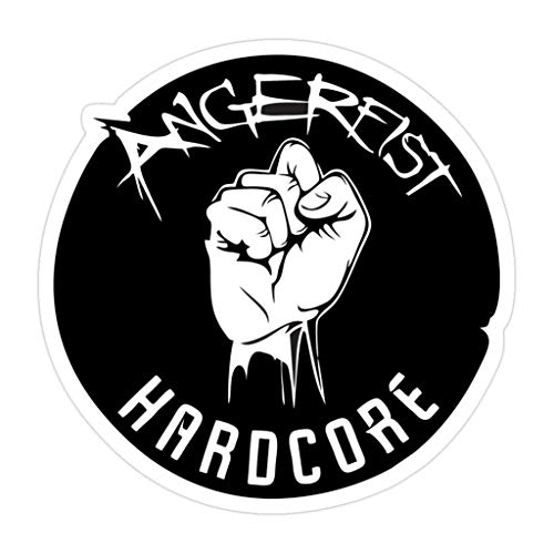 3 PCs Stickers Angerfist Logo Merchandise Inch Die-Cut Wall Decals for Laptop Window Car Bumper Helmet Water Bottle