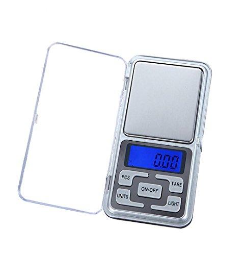 ZEZKT-Home Digitale Milligramm Waage 200g X 0.01g mit LCD-Anzeige Digitale Taschenwaage Lab Digitale Waage Schmuckwaage Schmuck Balance Gewicht Gram LCD Bildschirm Elektronische Waage Pocket Scale