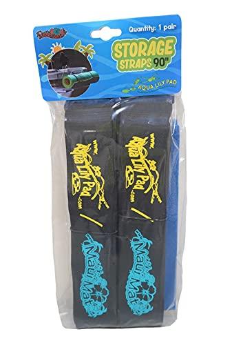 Aqua Lily Pad Straps with Pad Protectors (Set of 2) 90 inch Cinch...