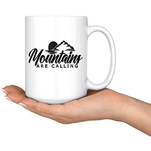 Thomas655 Camping Mug Mountains bellen beker buiten koffiemok geschenk voor hem