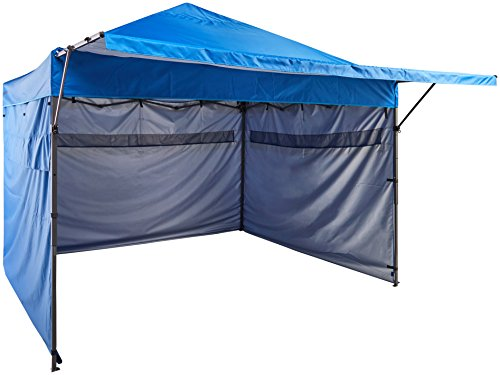 AmazonBasics 3 x 3 m, gazebo pop-up con pareti laterali, Blu