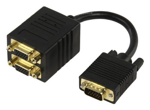 Valueline CABLE-560 Divisor de Video - Splitter de vídeo (VGA, Oro, 0,15m,...