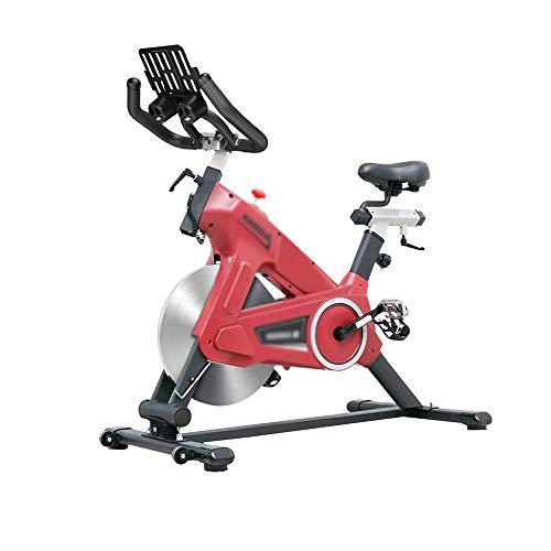 XJWWW-URG Bicicleta de Spinning for Bicicleta de Interior, Bicicleta de Ejercicios aeróbicos, Pantalla LED, Sensor de frecuencia cardíaca, Banco de Trabajo Ajustable, 265 Libras de Peso URG