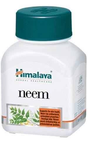 Integratore di purificazione e disintossicazione del sangue - Pulisce le tossine e favorisce la salute della pelle - Capsule di Neem, 60 pezzi - Prodotto di Himalaya (1-Pack)