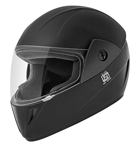 Gliders. Jazz Full Face ABS Shell Helmet (Black with Clear Visor, 580...