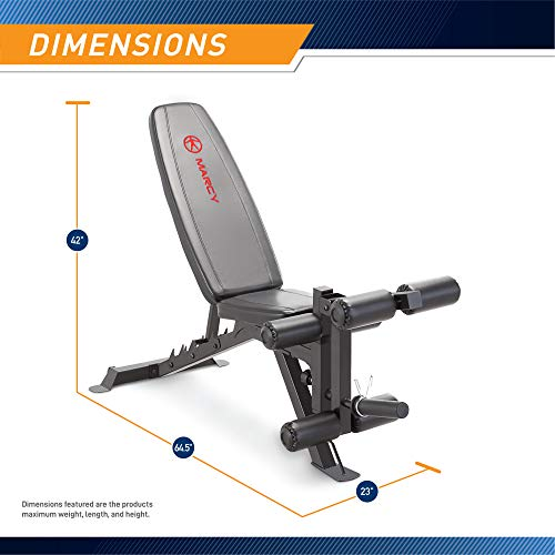 Product Image 2: Marcy Adjustable 6 Position Utility Bench with Leg Developer and High Density Foam Padding SB-350