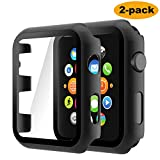 Hianjoo (2 Pack) Case Compatible with Apple Watch Series 3 Series 2 42mm