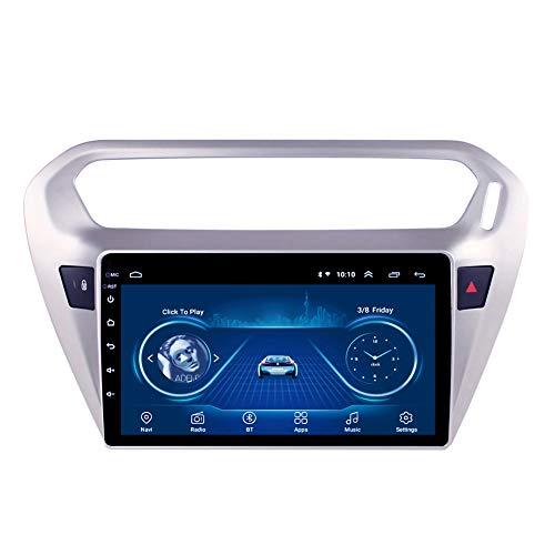 Kilcvt 9 Pulgadas Multimedia Car Stereo Android 10 Car DVD Player GPS Navigation, para Peugeot(301) 2014-2018 Soporte De Control del Volante/TV/DVD/Am/FM/Bluetooth,4g WiFi 1g 16g